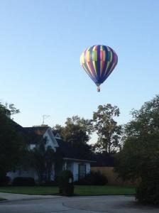 clear blue balloon