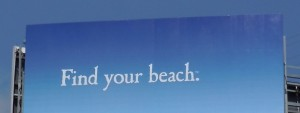 Corona find your beach billboard