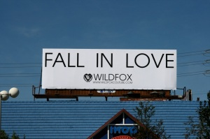 Wildfox Fall in love billboard