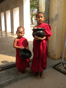 Boys go to monk school in the summer and must beg for their food.