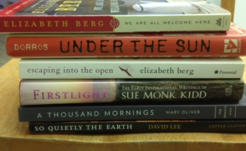 Book spine poem Under the Sun