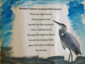 Mother Nature (A Preposition Poem)