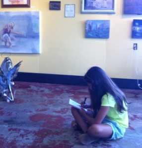 Writing in the gallery