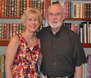 Margaret Gibson Simon and father,  John Gibson