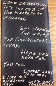 Kendall wrote a poem inviting you to enjoy the chalkabration.