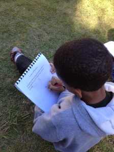 Nigel sketching