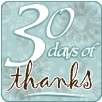 30 days of thanks button