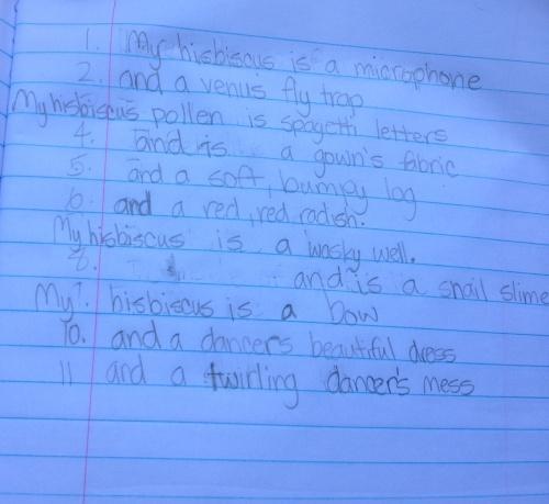 Kielan metaphor poem copy