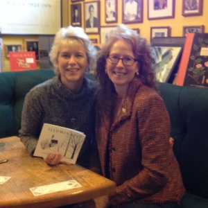 Here I am with a high school friend sitting under photos of Eudora Welty and Walker Percy among other famous authors.