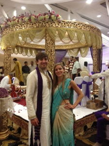 I love this picture of my daughter, Maggie, dressed in traditional Indian clothing with her boyfriend, Louis.