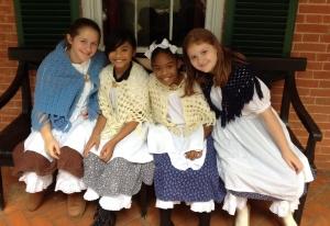 Girls in period costume
