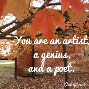 artist, genius, poet