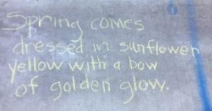 spring chalk poem