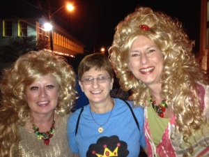 Cathy, Lory, and me at the Bouffants concert.