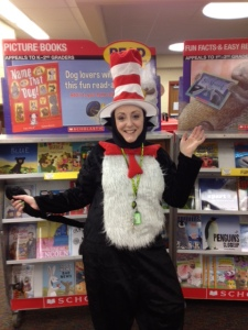 The Cat in the Hat visited the Book Fair!  Happy Birthday, Dr. Seuss!