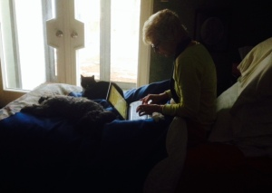 writing with Charlie and Mimi