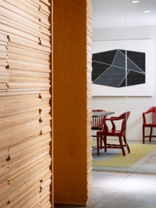 A glance around the corner at the boardroom.  ChipperHatter Architects