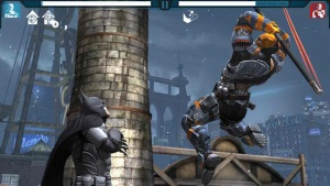 Screenshot from Batman: Arkham Origins for iOS and Android.