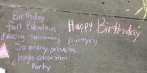 birthday cinquain