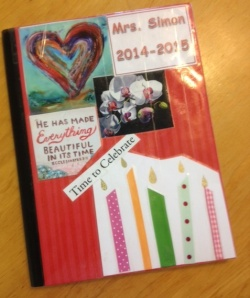 Front cover of my journal for this school year.