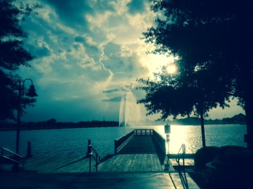 Original photo (iPhonography) by Margaret Simon taken at Sugar Mill Pond, Youngsville, LA.