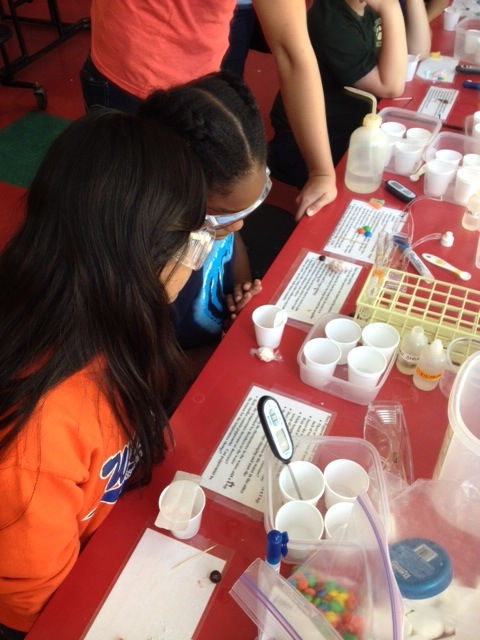 We lucked into Chemistry week.  Our students learned about the chemistry of candy through hands-on experiments.
