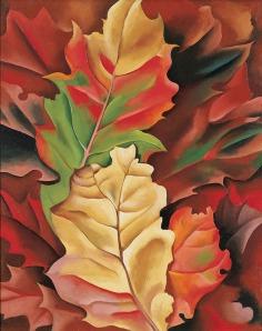 Autumn Leaves by Georgia O'Keefe