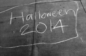 Halloween chalk