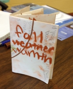 Folded book poem