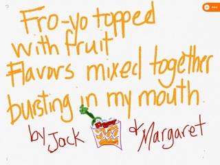 Fro-yo chalk poem
