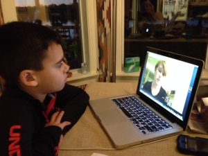 Jack interviews Martha via Google Hangout.