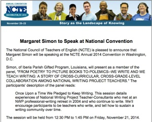 NCTE Presentation Flier