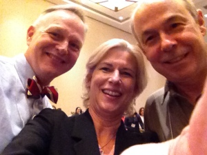 Selfie with Lester Laminack and Ralph Fletcher.