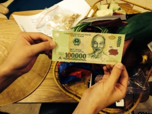 Children are fascinated by money from other countries.