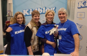 Julianne Harmatz, Fran McVeigh, me, and Mark Flannery (Kidblog President)