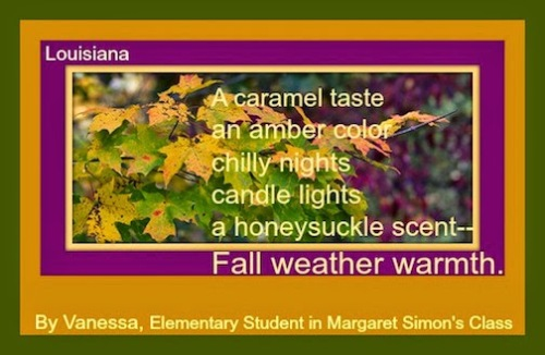Vannisa's fall poem.