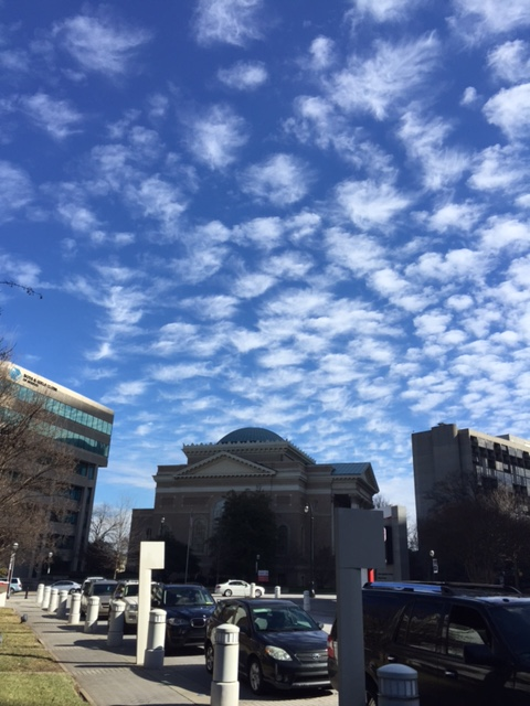 Look at the high cirrus clouds.