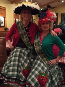Me with Cathy in our Berry Queen finery and big hats
