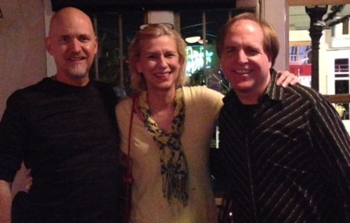 My brother Hunter, me, and Monty, his longtime friend and bass player.