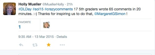 Tweet from Holly