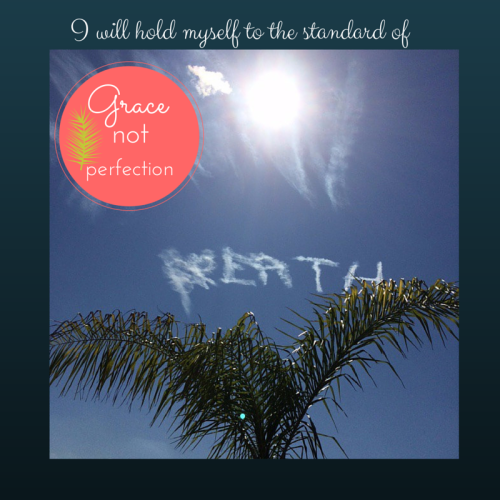 Image created in Canva.  Photo taken by Maggie Simon in New Orleans.  A sky writer send messages of hope.