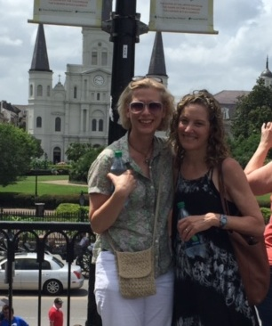 With Julianne in Jackson Square