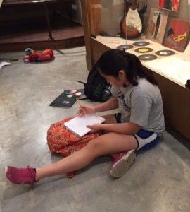 writing in the museum