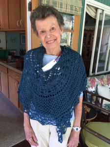 Anne with prayer shawl