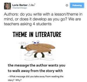 author theme tweet