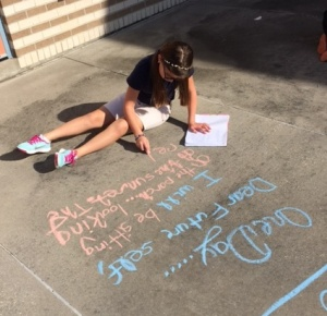 Chalking poetry