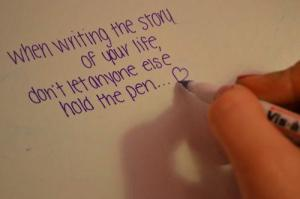 When Writing The Story Of Your Life truedailyquotes.blogspot.com