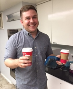 My son-in-law-to-be learns the way to my heart is with coffee from Starbucks.