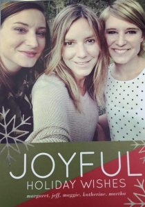 Our 2015 Christmas card: a sister selfie.