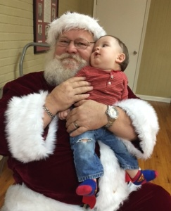 Jacques with Santa